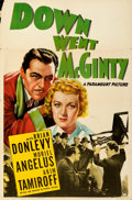 "Movie Posters:Comedy, The Great McGinty (Paramount, 1940). Folded, Fine/Very Fine. One Sheet (27"" X 41"") & Title Snipe (27"" X 10.5""). Worki..."