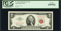 Fr. 1513* $2 1963 Legal Tender Star Note. PCGS Gem New 65PPQ