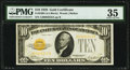 Fr. 2400 $10 1928 Gold Certificate. PMG Choice Very Fine 35