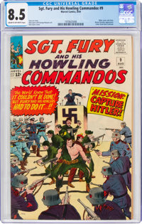 Sgt. Fury and His Howling Commandos #9 (Marvel, 1964) CGC VF+ 8.5 Cream to off-white pages