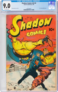 Golden Age (1938-1955):Crime, Shadow Comics V9#4 (Street & Smith, 1949) CGC VF/NM 9.0 Off-white pages....