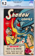 Golden Age (1938-1955):Crime, Shadow Comics V6#4 (Street & Smith, 1946) CGC NM- 9.2 Off-white to white pages....