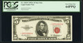 Small Size:Legal Tender Notes, Fr. 1533* $5 1953A Legal Tender Star Note. PCGS Very Choice New 64PPQ.. ...