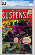 Silver Age (1956-1969):Horror, Tales of Suspense #9 (Marvel, 1960) CGC FN- 5.5 White pages....