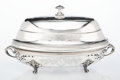 Silver & Vertu, A Three-Piece Christofle Silver-Plated Warmer with Cover, France, late 19th-early 20th century . Marks to cover: 60, 5, 2,...
