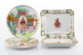 Ceramics & Porcelain, Two Pairs of Chinese Armorial Export Porcelain Dishes, early 19th century. 7/8 x 7-7/8 inches (2.5 x 20 cm) (each, plates). ... (Total: 4 Items)