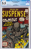 Silver Age (1956-1969):Science Fiction, Tales of Suspense #20 (Marvel, 1961) CGC FN- 5.5 Off-white to white pages....
