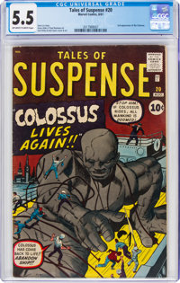 Tales of Suspense #20 (Marvel, 1961) CGC FN- 5.5 Off-white to white pages