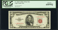 Small Size:Legal Tender Notes, Fr. 1535* $5 1953C Legal Tender Star Note. PCGS Gem New 65PPQ.. ...