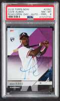 "Baseball Cards:Singles (1970-Now), 2018 Topps Now Ozzie Albies ""Road to Opening Day"" Purple Autograph #235C PSA NM-MT 8 - Serial Numbered 17/25...."