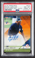 """Baseball Cards:Singles (1970-Now), 2018 Topps Now Miguel Andujar """"Road to Opening Day"""" Orange Autograph #OD-41E PSA NM-MT 8 - Serial Numbered 1/5...."""