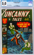 Golden Age (1938-1955):Horror, Uncanny Tales #13 (Atlas, 1953) CGC VG/FN 5.0 White pages....