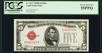 Fr. 1527 $5 1928B Mule Legal Tender Note. PCGS Choice About New 55PPQ