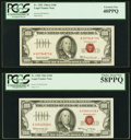 Fr. 1550 $100 1966 Legal Tender Note. PCGS Choice About New 58PPQ; Fr. 1551 $100 1966A Legal Tender Note. PCGS Extremely...