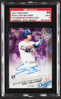 Baseball Cards:Singles (1970-Now), 2017 Topps Now Cody Bellinger Autograph Purple #270C SGC 96 Mint 9 - Serial Numbered 14/25....
