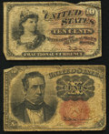 Fractional Currency:Fourth Issue, Fr. 12?? 10¢ Fourth Issue VG;. Fr. 1266 10¢ Fifth Issue VG.. ... (Total: 2 notes)