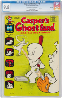 Casper's Ghostland #45 File Copy (Harvey, 1968) CGC NM/MT 9.8 Off-white to white pages