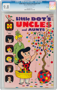 Little Dot's Uncles and Aunts #34 File Copy (Harvey, 1970) CGC NM/MT 9.8 Off-white to white pages