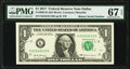 Small Size:Federal Reserve Notes, Binary Serial Number 01010110 Fr. 3004-K $1 2017 Federal Reserve Note. PMG Superb Gem Unc 67 EPQ.. ...