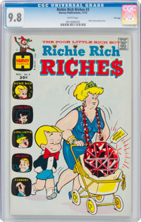 Richie Rich Riches #3 File Copy (Harvey, 1972) CGC NM/MT 9.8 White pages