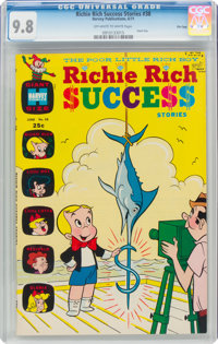 Richie Rich Success Stories #38 File Copy (Harvey, 1971) CGC NM/MT 9.8 Off-white to white pages
