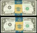 Small Size:Federal Reserve Notes, Fr. 1900-I $1 1963 Federal Reserve Notes. Fifty Consecutive Examples. Gem CU;. Fr. 1900-J $1 1963 Federal Reserve Notes. F... (Total: 100 notes)