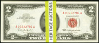 Fr. 1513 $2 1963 Legal Tender Notes Forty-one Consecutive Examples Choice Crisp Uncirculated or Better. ... (Total: 41 n...