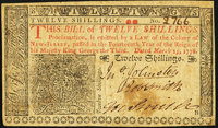 New Jersey March 25, 1776 12s Very Fine-Extremely Fine