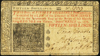 New Jersey March 25, 1776 15s Very Fine