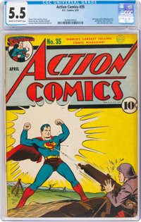 Action Comics #35 (DC, 1941) CGC FN- 5.5 Cream to off-white pages