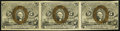 Fractional Currency:Second Issue, Fr. 1234 5¢ Second Issue Horizontal Strip of Three About New.. ...