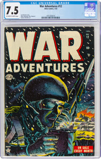 War Adventures #12 (Atlas, 1953) CGC VF- 7.5 Off-white to white pages