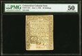 Connecticut June 1, 1780 20s PMG About Uncirculated 50, CC