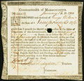 Colonial Notes:Massachusetts, Massachusetts Treasury Certificate £9.12s.6p January 1, 1782 Anderson MA-31 About New, HOC.. ...