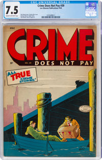 Crime Does Not Pay #39 (Lev Gleason, 1945) CGC VF- 7.5 Cream to off-white pages