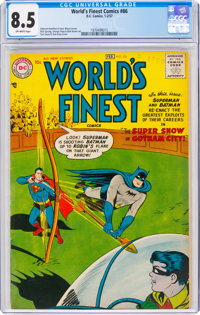 World's Finest Comics #86 (DC, 1957) CGC VF+ 8.5 Off-white pages