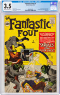 Silver Age (1956-1969):Superhero, Fantastic Four #2 (Marvel, 1962) CGC VG- 3.5 Cream to off-white pages....
