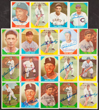 """1960 Fleer """"Baseball Greats"""" Signed Card Collection (19)"""
