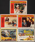 """Movie Posters:Documentary, The Silent World & Other Lot (Columbia, 1956). Very Fine-. Title Lobby Cards (2) & Lobby Cards (3) (11"""" X 14""""). Documentary.... (Total: 5 Items)"""