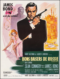 "From Russia with Love (United Artists, R-1970s). Very Fine on Linen. French Grande (47"" X 63"") Boris Grinsson..."