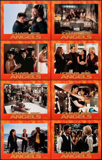 "Charlie's Angels (Columbia, 2000). Very Fine/Near Mint. International Lobby Card Set of 8 (11"" X 14""). Action..."