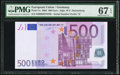 World Currency, European Union Germany 500 Euro 2002 Pick 7x PMG Superb Gem Unc 67 EPQ.. ...