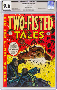 Two-Fisted Tales #28 White Mountain Pedigree (EC, 1952) CGC NM+ 9.6 Off-white to white pages