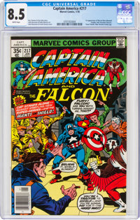 Captain America #217 (Marvel, 1978) CGC VF+ 8.5 White pages