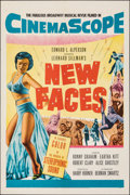 """Movie Posters:Musical, New Faces (20th Century Fox, 1954). Folded, Very Fine-. One Sheet (27"""" X 41""""). Musical.. ..."""