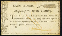 Massachusetts Semi-Annual State Lottery. Mar. 2, 1790. Class the Second. New