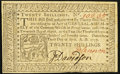 Pennsylvania April 10, 1777 20s About New