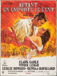 """Gone with the Wind (MGM, R-1989). Folded, Fine/Very Fine. French Grande (47"""" X 63""""). Howard Terpning Artwork..."""