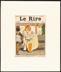 "Movie Posters:Miscellaneous, Le Rire Lot (c. 1902). Very Fine-. Matted Magazine Covers (2) & Matted Magazine Page (Page: 9"" X 11.75"", Mat: 16"" X 19""). Mi... (Total: 3 Items)"