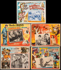 "Movie Posters:Comedy, A Day at the Races & Other Lot (MGM, R-1960s). Fine/Very Fine. Mexican Lobby Cards (5) (Approx. 12.5"" X 16.5""). Comedy.. ... (Total: 5 Items)"